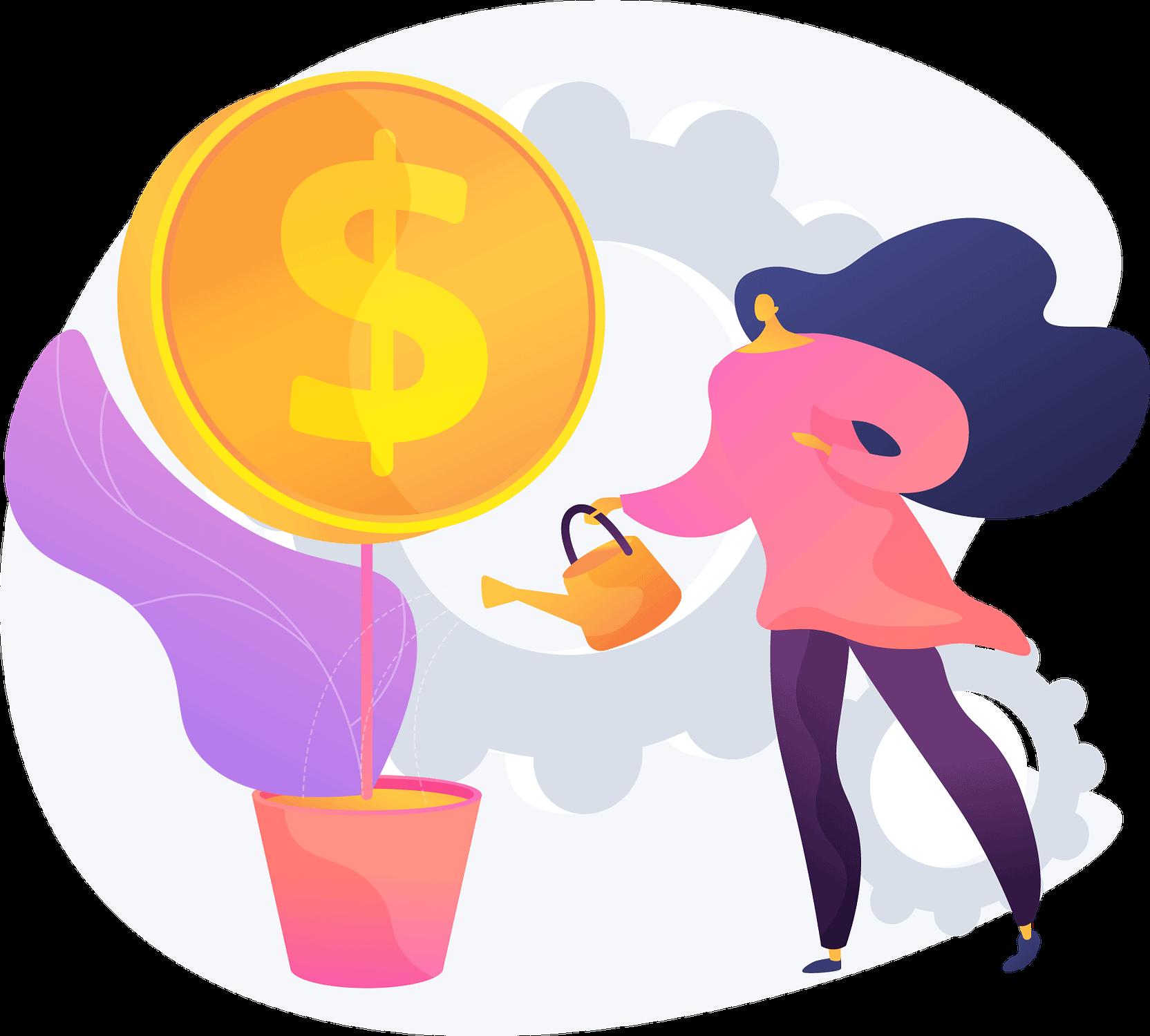 nurturing leads and profits illustration