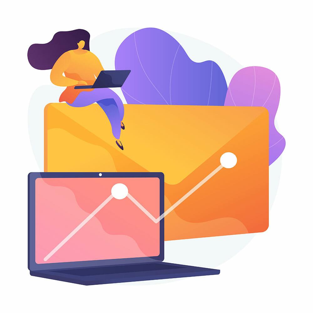 illustration conveying email marketing