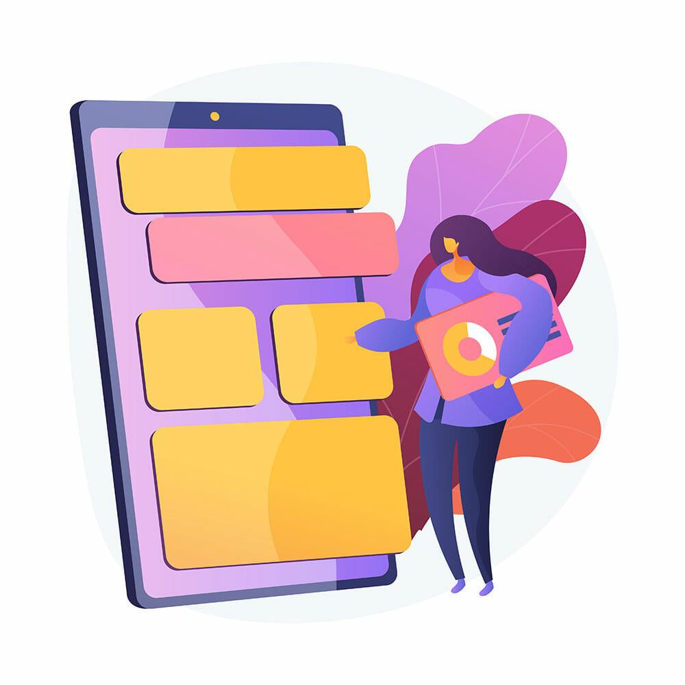 ui/ux design illustration