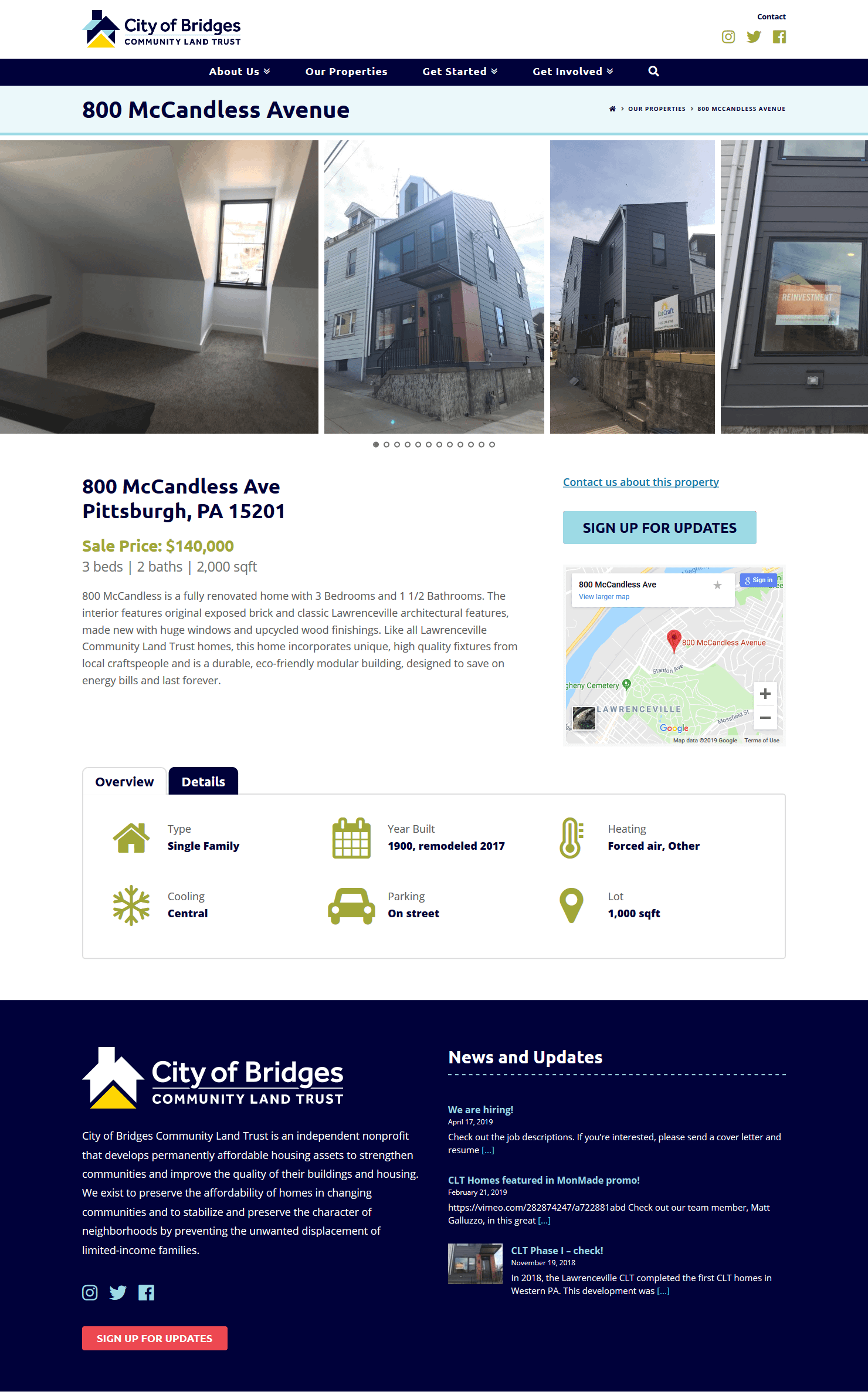 City of Bridges CLT Individual Property Listing