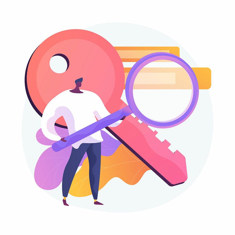 keyword research illustration