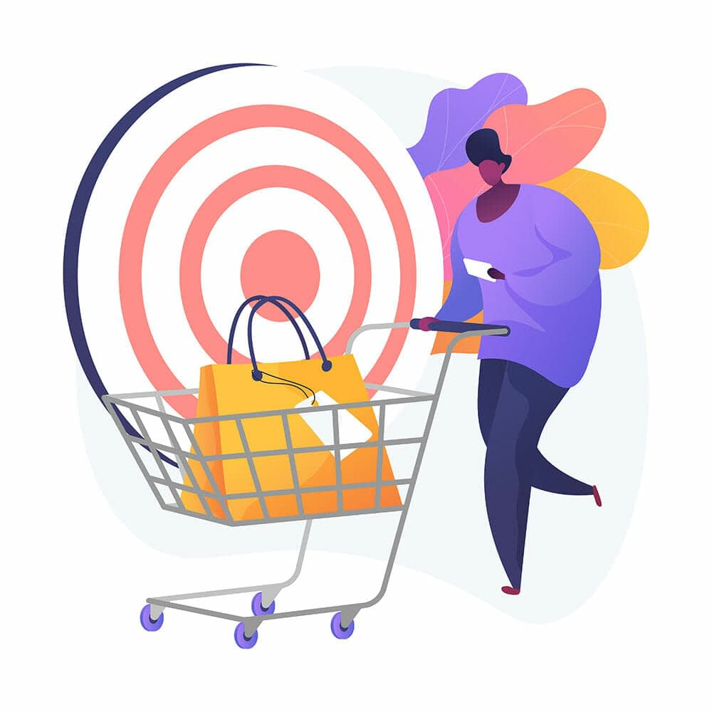 ecommerce shopper illustration
